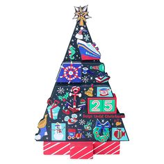 Disney Cruise Line Countdown to Christmas Wooden Holiday Tree | shopDisney Countdown Until Christmas, Days Until Christmas, Disney Visa, Disney Furniture, Wooden Tree, Disney Cruise Line, Disney Christmas, Holiday Tree, Red And White Stripes