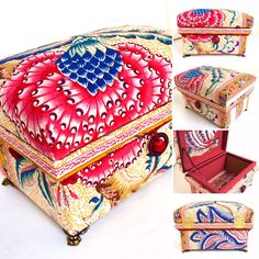 """Interior Chabako size 1KS, in French fabric Braquenie """"Grand Colail""""."""