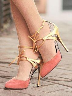 pink python heels, zanotti for vionnet