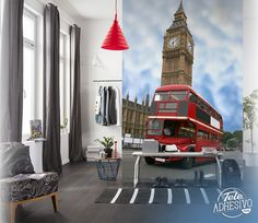 Fotomurales: Big Ben #londres #decoracion #bus #TeleAdhesivo