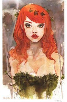 Brett Weldele Signed Batman DC Comics Art Print Poison Ivy