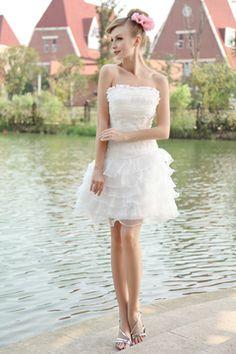 Organza Short Pretty Wedding Dress