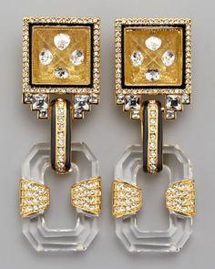 Rachel Zoe Glass Drop Earrings