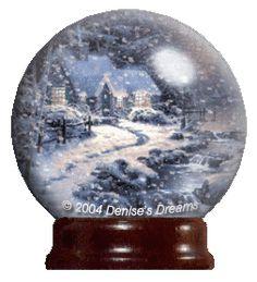 Animated Snow Globes   Animated KInkade Globe