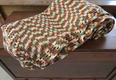 1980's Hand Crocheted Large Afghan Blanket by EMStreasureseekers, $52.95