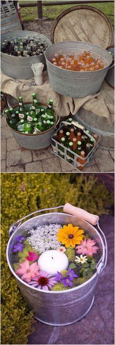 New Backyard Party Food Ideas Buckets Ideas Rustic Wedding Reception, Bridal Shower Rustic, Elegant Wedding, Top Wedding Trends, Wedding Ideas, Wedding Inspiration, Budget Wedding, Wedding Stuff, Rustic Backyard