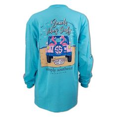7ef454a6c4 Simply Southern Ron Jon Junior Beach Vibes Only Long Sleeve Tee