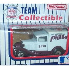 Philadelphia Phillies 1990 MLB Diecast Ford Model A Truck 1/64 Scale Baseball Team Collectible Matchbox White Rose by MLB  $11.00