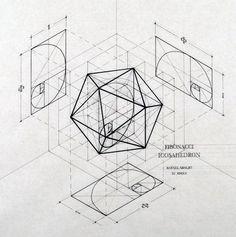 Arquiteto mescla arte e ciência através de ilustrações que seguem a proporção áurea,Cortesia de Rafael Araujo