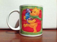 Winnie The Pooh Works Coffee Mug Disney Piglet Tigger Christmas Hundred Acre