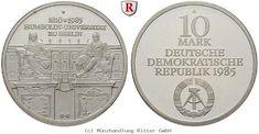 RITTER DDR, 10 Mark 1985, Humboldt Universität, J. 1606, PP #coins #numismatics