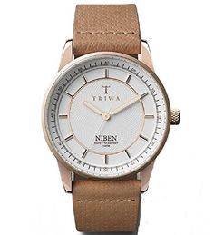 Triwa Rose Niben Unisex Analog Watch White Dial Tan Dots Classic Leather Strap NIST105 CD010614 >>> Be sure to check out this.