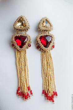 """Купить Люстры """"Джессика Рэббит"""" - разноцветный, серьги, сережки, длинные серьги, серьги на выход"""