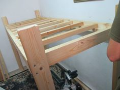 Penniless Parenting: How to Build a Loft Bed- DIY Tutorial and Plans- Space Efficient and Frugal