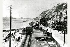 Mumbles Light Railway and Tramway. Mumbles and Oystermouth, Swansea, Wales.... Mumbles Pier and Lifeboat Station can be seen on the horizon.