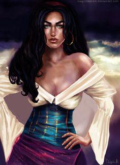 Esmeralda - The Hunchback of Notre Dame by *magicnaanavi