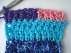 Como cambiar de color de hilado en crochet