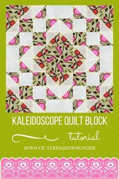 Video tutorial: Kaleidoscope quilt block – quick and easy quilting