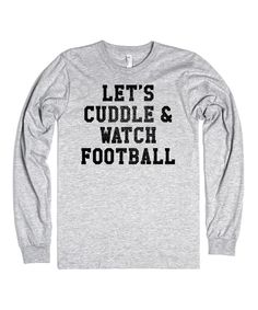 Look at this Heather Gray 'Lets Cuddle' Long-Sleeve Tee on #zulily today!