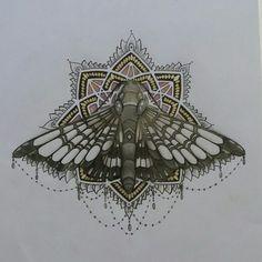 Dangly moth mandala