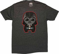 Star Wars Kawaii Darth Vader 30 Single TShirt XXLarge * Click image to review more details.