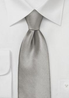 Mikrofaser-Krawatte monochrom warmsilber