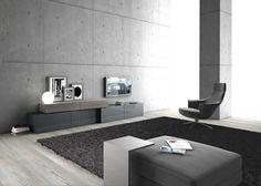 Sectional storage wall InclinART - 296 By Presotto design Pierangelo Sciuto Trendy Furniture, Modular Furniture, Furniture Ideas, Modul Sofa, Extension Designs, Salon Design, Lounge, Italian Furniture, Scandinavian Style