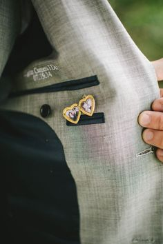 Such a sweet personal touch - a locket sewn into the groom's suit | Michelle Gardella Photography | Bridal Musings Wedding Blog