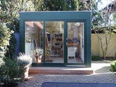 Kubus 2 - das moderne Design Gartenhaus als Gartenraum