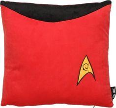 Robe Factory Llc Star Trek x Uniform Pillow: Scotty Red Star Trek, Red Throw Pillows, Geek Gadgets, Starship Enterprise, Pillow Fabric, Geek Stuff, Engineering, Amazon, Geeks