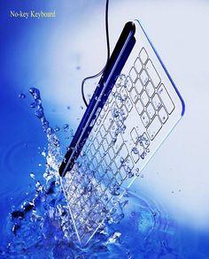 QWERTY glass keyboard