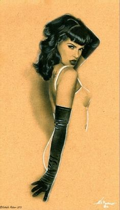 Nathalie Rattner, a contemporary artist, does pin-ups in a retro style