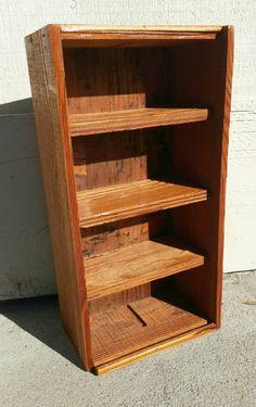 Wood Shelf Small Storage Box Rustic Shelves Vertical