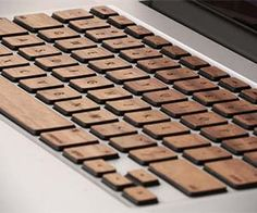 Wooden MacBook Keyboard