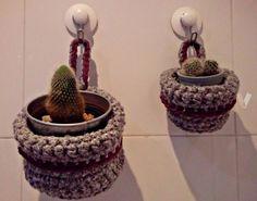 cestas de trapillo para colgar plantas / crochet baskets to hang plants