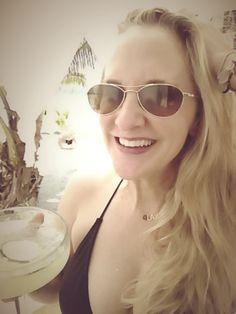#Margaritas taste better at the #beach (#self-portrait, #mobile #photography)