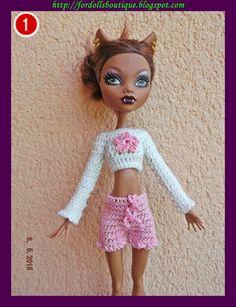 Conjunto de jersey y shorts para muñecas Monster. (high quality) distintos modelos a escoger de Fordollsboutique en Etsy