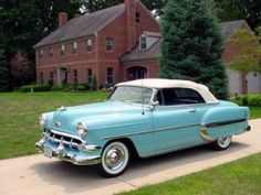 Santa baby, a 54 convertible too, Light blue. I'll wait up for you dear, Santa baby, so hurry down the chimney tonight. 1954 Chevy Bel Air, Chevrolet Bel Air, General Motors Cars, Santa Baby, Dear Santa, Car Pictures, Car Pics, Future Car, Motor Car