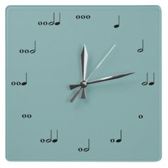 Music note wall clock! Great idea for a music room.
