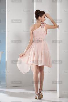 Vestidos de Noche Lindo Medio-largos Rosas Perlas Gasa   Paris Ciel