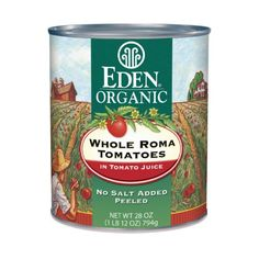 Eden Organic Whole Roma Tomatoes, In Tomato Juice, 28 Ounce (Pack of 12) *** Read more reviews of the product by visiting the link on the image.