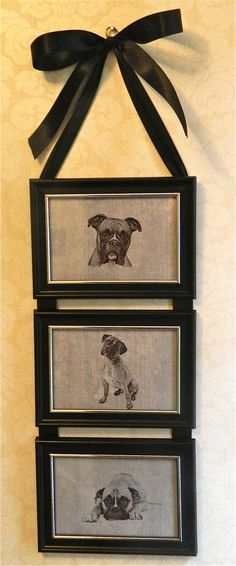 Boxer Dog Picture Frame Collage Wall by BirdieGirlsTreasures, $14.99