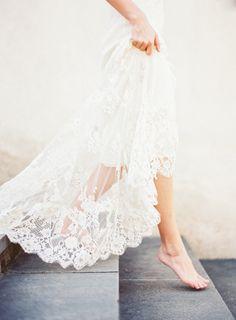 Delicate French Lace Wedding Dress | Kayla Barker Fine Art Photography