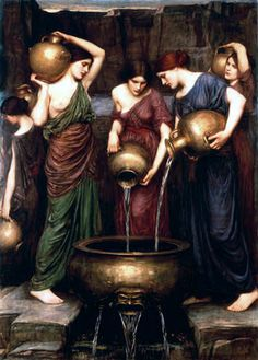 "PINTURA ::: ""The Danaïdes"", 1904 - JOHN WILLIAM WATERHOUSE - Óleo sobre lienzo"