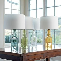 Glass table lamps by leanne