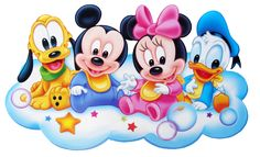 clipart blingee baby | Mickey Mouse Baby smiling inside a circle.