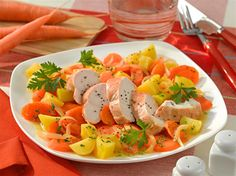 Möhren-Gemüse mit Hähnchenfilet