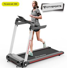 CITYSPORTS Tapis de Course Electrique pliable pas cher - Tapis de Course Go Sport-Bonnes Affaires-Bons Plans - Ventes-pas-cher.com Go Sport, Bons Plans, Courses, Treadmill, Fitness, Gym Equipment, How To Plan, Sports, Walking Exercise