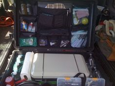 Pain and simply I am looking for help and Ideas on a kitchen set up. My goal is to keep everything in a pelican case so it can ride on the outside of the. Camping Items, Camping Crafts, Camping Hacks, Camping Foods, Camping Gear, Pelican Case, Camp Kitchen Box, Kitchen Set Up, Ideas