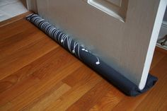 DIY Draft Blocker use pool noodle covered in fabric